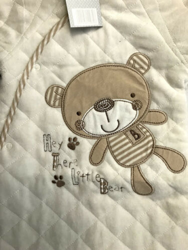 Rock A Bye Baby Velour Padded Quilted Little Bear Pram Suit Boys Girls Unisex