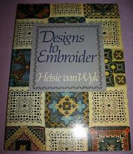 """DESIGNS TO EMBROIDER"" by Hetsie van Wyk  1st Edition VERY RARE!"