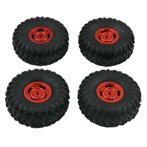 1:12 RC Car Assembly Upgrade Rubber Tire Metal Wheel Hub for MN90 MN90K MN45
