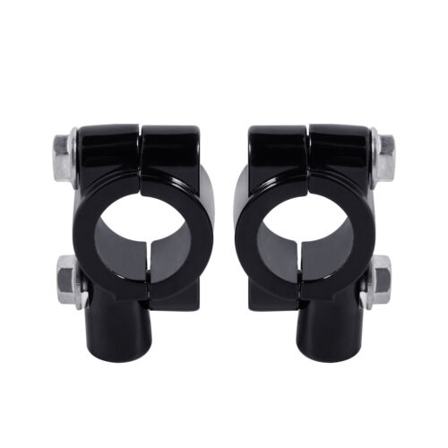 "2X 8mm 7//8/"" Motorcycle Handlebar Mirror Mount Holders Adapter Aluminum Clamp New"