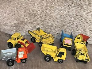 Lot-Of-8-Matchbox-Lesney-Construction-Vehicles-Vintage-Toys-Some-Other-Makes-Too