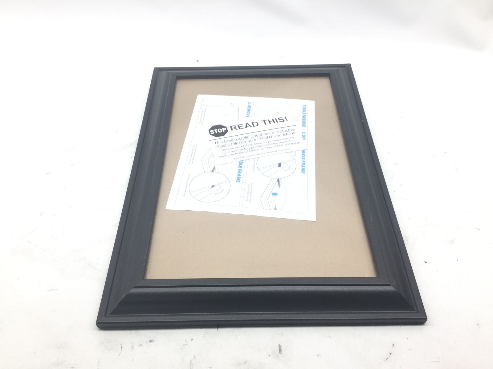 3 Opening Glass Face 10x16 White Picture Frame Holds 4x6 Media White Collage Mat