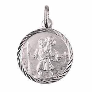 0e53c6170be Image is loading Genuine-Solid-925-Sterling-Silver-St-Christopher-Pendant-
