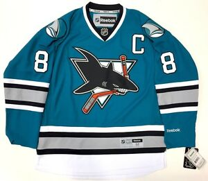 3fb54349639 Image is loading JOE-PAVELSKI-SAN-JOSE-SHARKS-25TH-ANNIVERSARY-REEBOK-