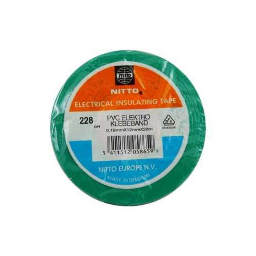 €0,05//m 10 x Nitto Isolierband Elektroklebeband Grün 12mmx20m np Dicke 0.19mm