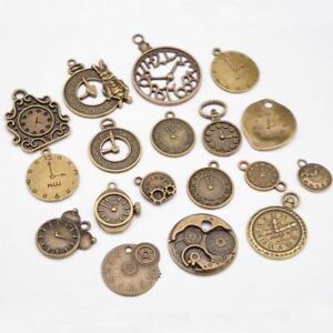 Vintage-Charms-Steampunk-Clock-Jewelry-Making-Mixed-Clock-Pendant-Pendant