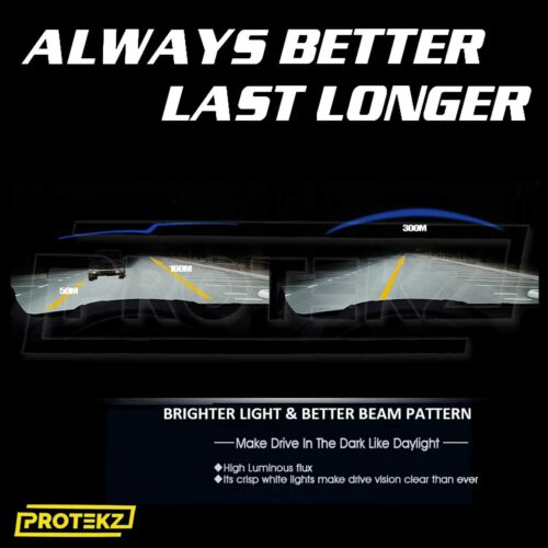 LED Headlight Kit Protekz 9003 H4 6000K High Low for 2004-2010 SUZUKI SWIFT