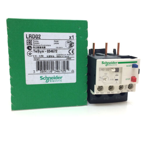 Surcharge relais LRD02 schneider 0.16-0.25A 034672