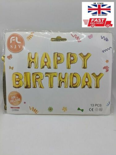 Details about  /Happy Birthday letter foil ballon banner birthday decor
