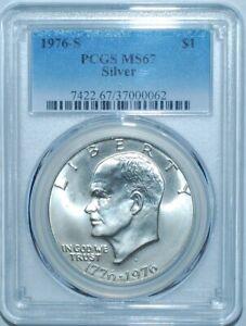 1976-S-PCGS-MS67-Silver-1-Eisenhower-Ike-Dollar