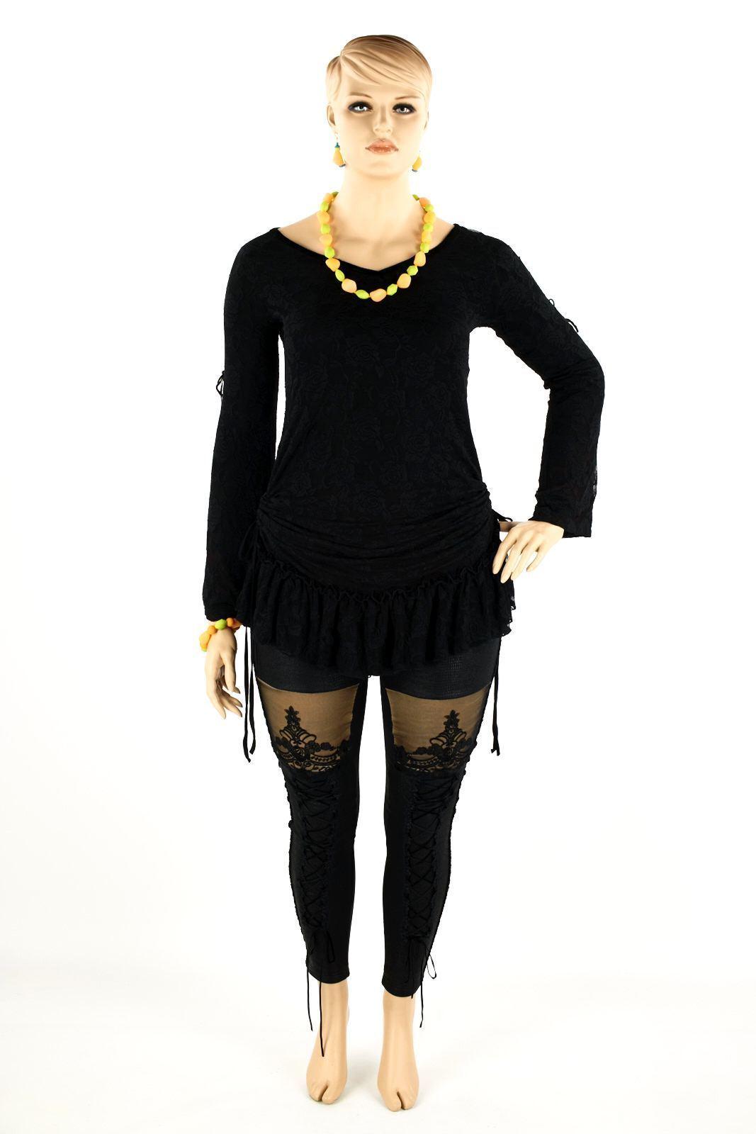 Gothic Gothic Gothic Fashion Stretch Stripe leggings nero, foderato-XS-XXXL-Punk 5c4c7c