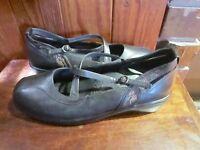 Kumf's Comfort Wear Leather Style Shoes Sz 39.5 Xw