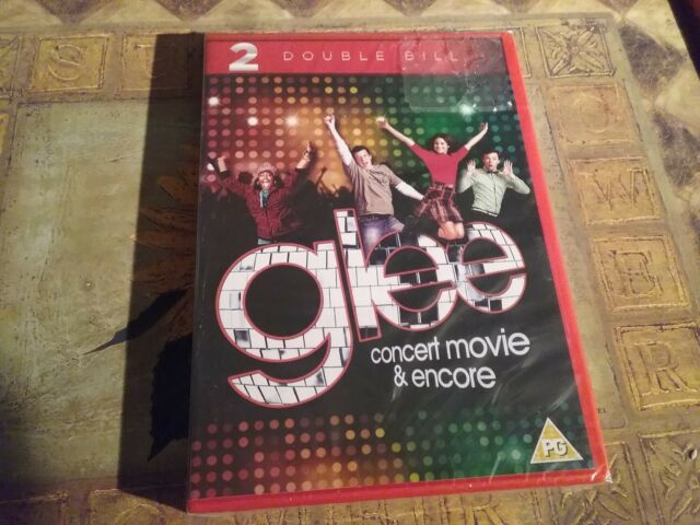 Glee The Concert Movie / Glee Encore (DVD, 2013, 2-Disc Set) new sealed freepost