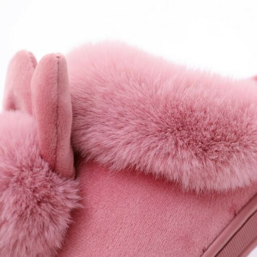 Details about  /Women Winter Plush Bunny Rabbit Warm Indoor Slippers Slip On Soft Home Shoes New