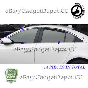 For-2009-2010-2011-2012-2013-2014-Chevrolet-Chevy-CRUZE-Chrome-Window-Frame-Trim