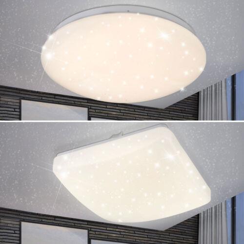 Luxus LED Decken Lampen Wohnraum Sternen Himmel Effekt Leuchten rund eckig EEK A