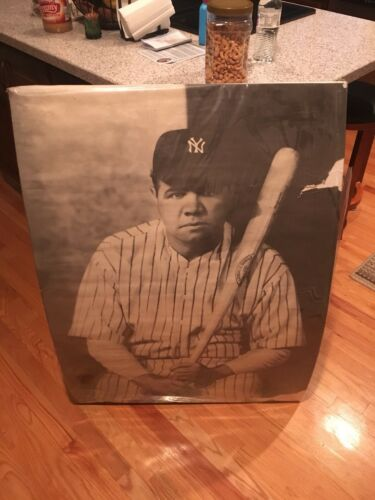 1966 Vintage Babe Ruth Art Poster New York Yankees 40 x 29 Inch Large BASEBALL