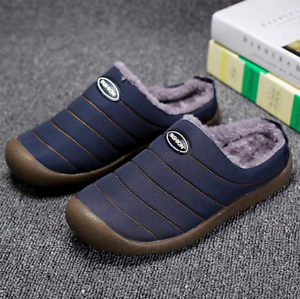 Womens-House-Slippers-Slip-On-Winter-Slippers-Fully-Fur-Lined-Outdoor-Slippers