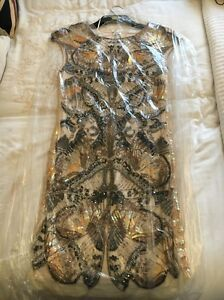 Dress 10 Size Butterfly Beaded Fully Selfridge Miss Ixqw8Yp7p