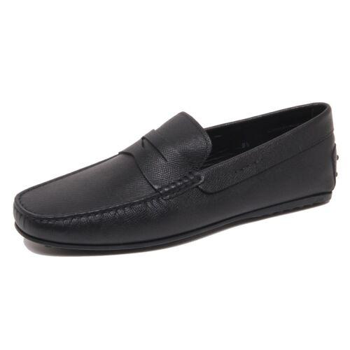 F6706 mocassino uomo black TOD'S scarpe gloss//matt effect loafer shoe man