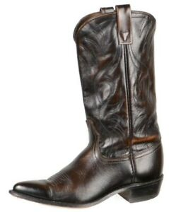Acme-Womens-Vintage-Western-Cowboy-Boots-Size-7-5C-Brown-Leather-Pull-On-USA