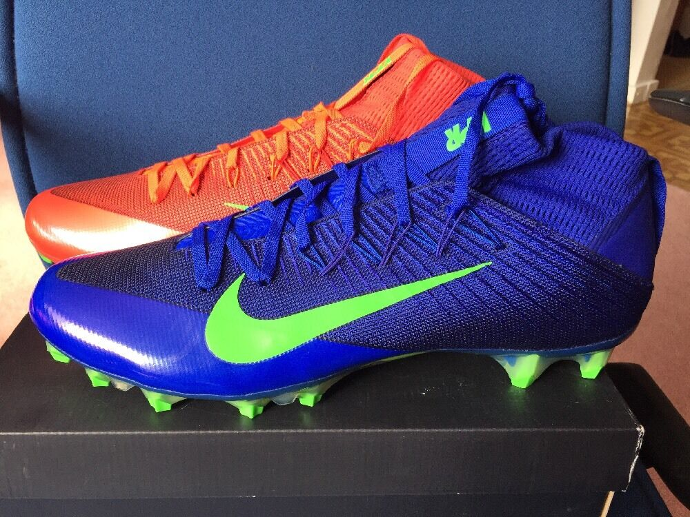 Cheap and beautiful fashion Nike Vapor Untouchable 2 Cleats Sz 14 Blue Green Red Multicolor Seattle Seahawks
