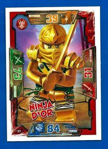 Carte lego ninjago n 27 ninja d 39 or vf neuf ebay - Carte ninjago ...