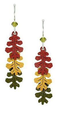 Sienna-Sky-Jewelry-3-Part-OAK-LEAVES-Earrings-1558-STERLING-Silver-Fall-Autumn