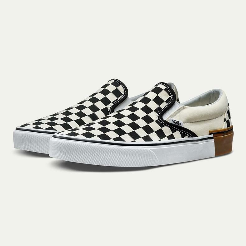Vans Classic Classic Classic Slip On Gum Block Checkerboard Uomo Classic Skate scarpe Dimensione 11.5 3d5805