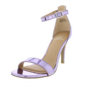 Material-Girl-Womens-Blaire-6-Patent-Mirrored-Dress-Heels-Sandals-BHFO-4127