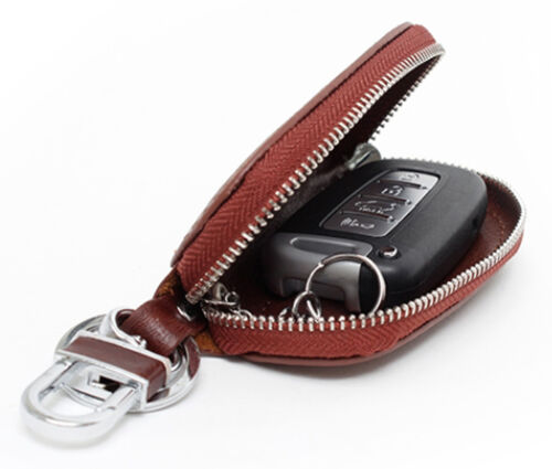 New Universal Car Smart Key Chain Leather Holder Cover Case Purse Bag Fob Remote