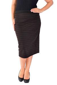 Neu Frauen Übergröße Dogtooth Skirt Damen Bleistiftrock Bodycon Rock Taille Lang Hohe Belastbarkeit Damenmode Kleidung & Accessoires