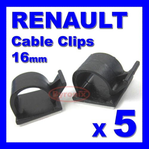 RENAULT SELF ADHESIVE CABLE CLIPS WIRING WIRE LOOM HARNESS 16mm HOLDER CLAMP