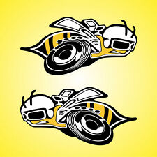 "2 Super Bee Decals Stickers Pair 6"" x 12"" Large Bumble SuperBee Scat Pack logo"