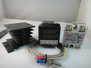 100-240VAC-PID-Temperature-Controller-Max-40A-SSR-Heat-Sink-2m-K-probe