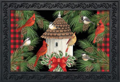"""Holiday Bird Gathering Doormat Welcome Indoor Outdoor 18/"""" x 30/"""" Briarwood Lane"""