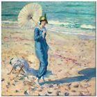"Stunning Coastal Themed Classic Art ~ Beach Carl Frieske ~ CANVAS PRINT 24x24"""
