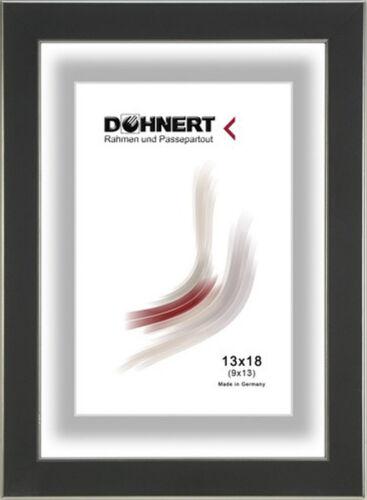 Cadre photo bois avec verre moderne barre 117-Noir//Argent Blanc//Argent