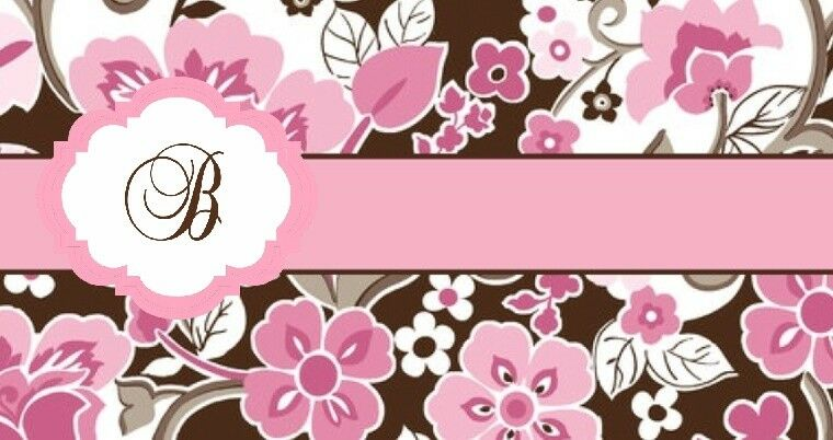 Checkbook CoverPink Brown Paisley Initial Monogrammed Personalized