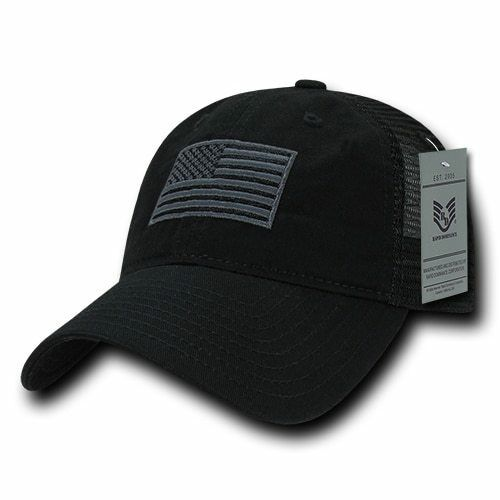 Relaxed Trucker USA American Flag Flag American Polo Tonal Mesh Back Baseball Hat Cap 179ba9