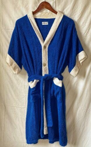Mac Phergus 100 Percent Cotton Terry Cloth Robe Bl