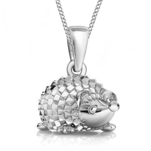 Igel remolque collar 925 real Sterling plata Baby niñas niños señora