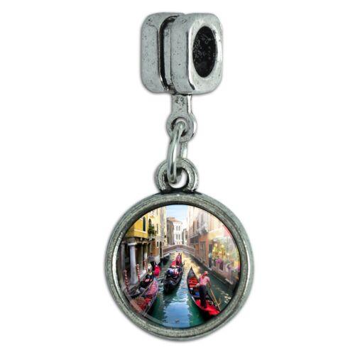 Venice Italy Gondolas Canals Italian European Style Bracelet Charm Bead