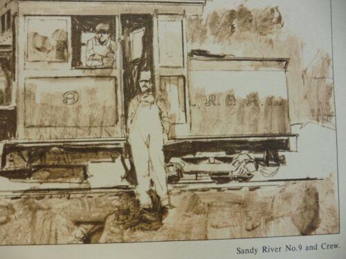 SET OF 4 RAILROAD PRINT SANDY RIVER AND RANGLEY LAKES