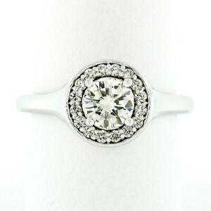 14k-or-Blanc-1-14ct-Rond-Brillant-Coupe-Solitaire-Diamant-Halo-Fiancailles-Bague