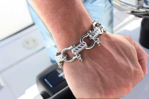 Adjustable STAINLESS STEEL BOAT SHACKLE BRACELET