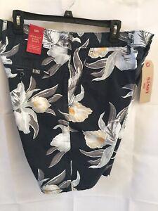 f60a6b2c LEVI'S Mens Size 36 Straight Chino Floral Shorts Black Hawaiian ...
