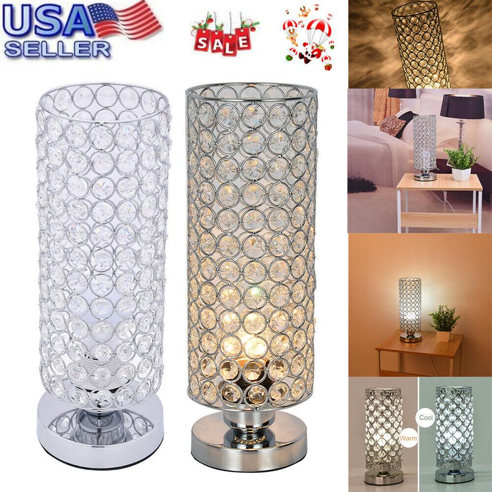 Crystal Table Lamp Bedside Nightstand Desk Reading Lamp Bedr