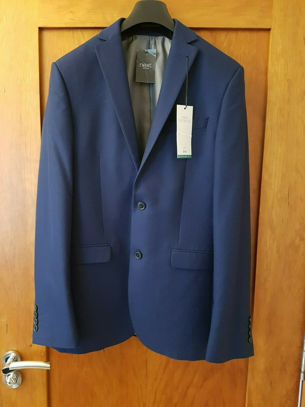 BNWT Next Tailoring suit jacket 36L and matching trousers 32R, blue,