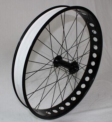 "Fatbike Roue avant 26/"" 80 mm Noir 15//150 Arbre De Roue Vr Disc chopperbike"